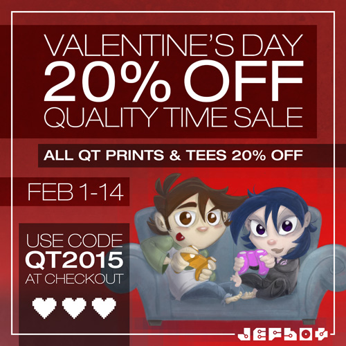 VDAY 20 OFF QT SALE